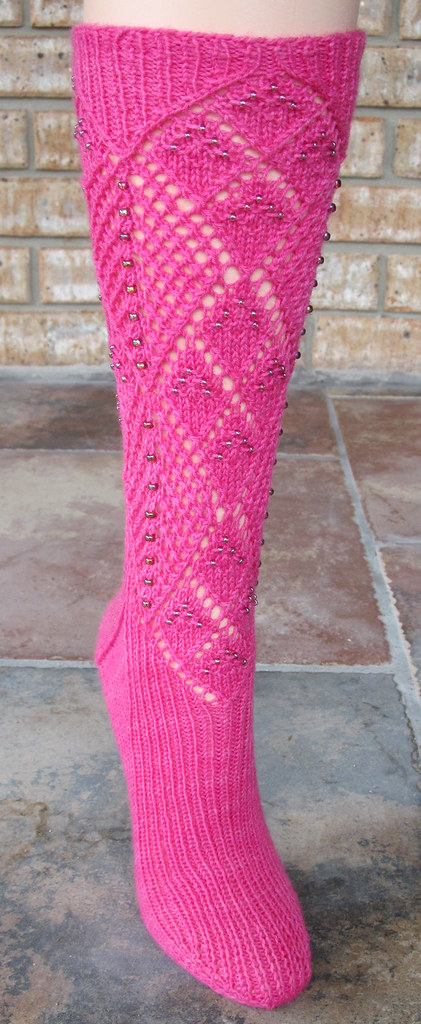 Two Ways About It Beaded Socks