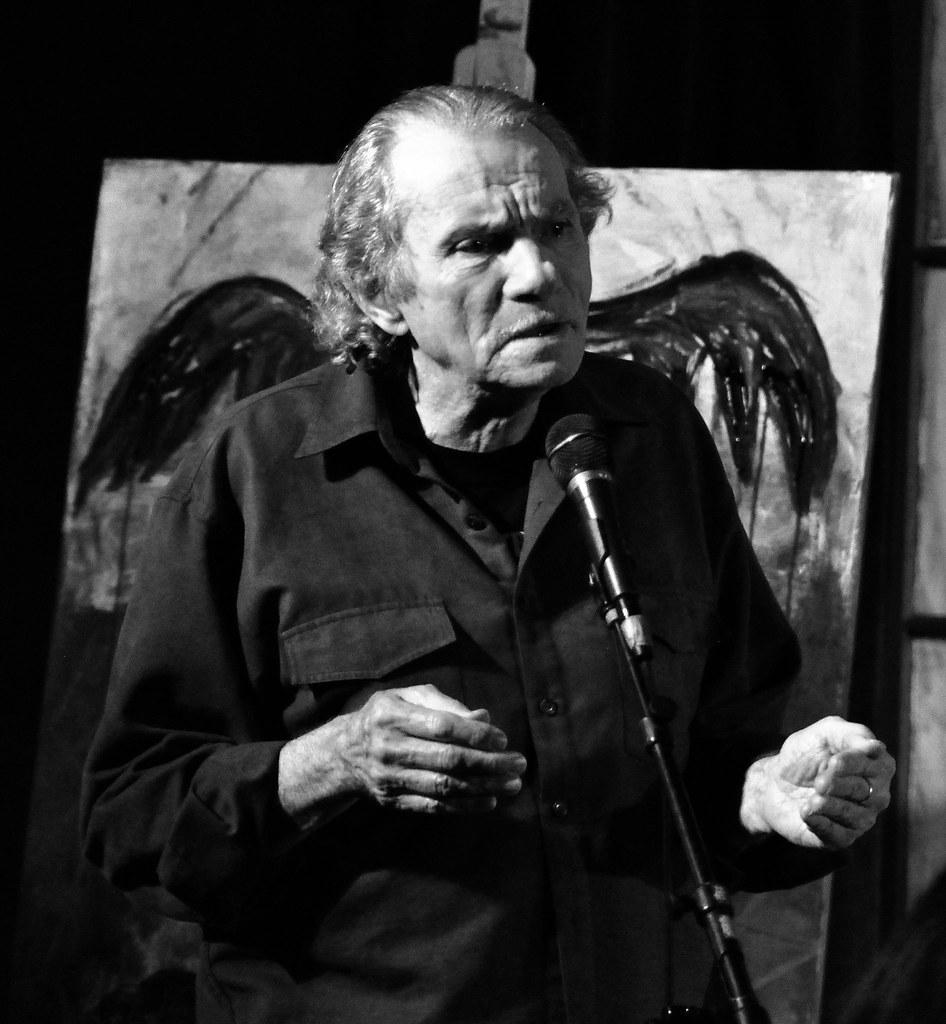 Jack McCarthy reciting a poem of hawks