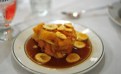 Bread Pudding with Banana Sauce