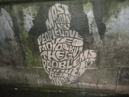 Homeless graffiti
