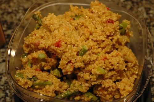 asparagus bulgur risotto