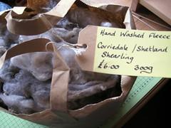 hand washed corriedale/shetland