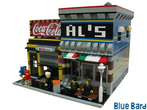 LEGO BlueBard cafe corner Al's and Garage