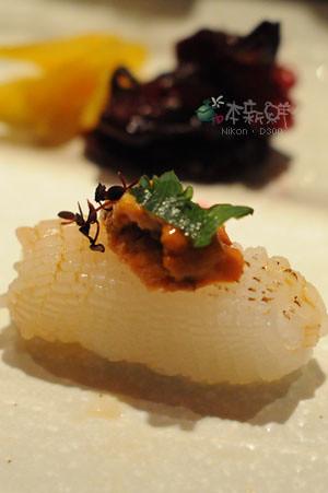 海膽軟絲握壽司