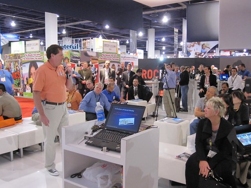 John Jantsch presents to a crowd at CES 2010 by rohitbhargava