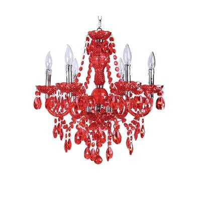chandelier home depot red