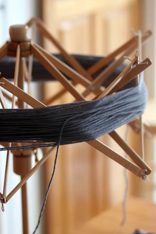 wip - yarn + fabric