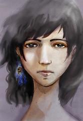 girl who wearing a chestnut earring