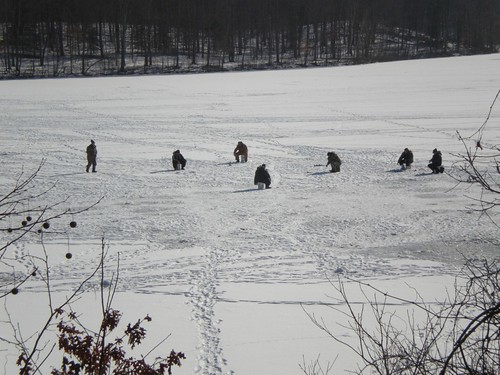 Ice Fishing in Katonah NY