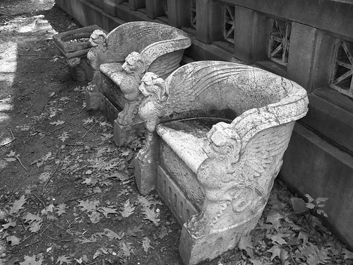 Behind Burke Mausoleum