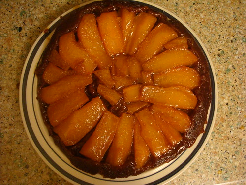Ginger Pear Tarte Tatin with Chocolate Puff Pastry
