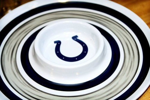Colts chip and dip tray