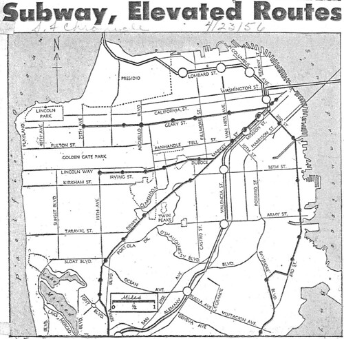San Francisco rapid transit plans (1956)