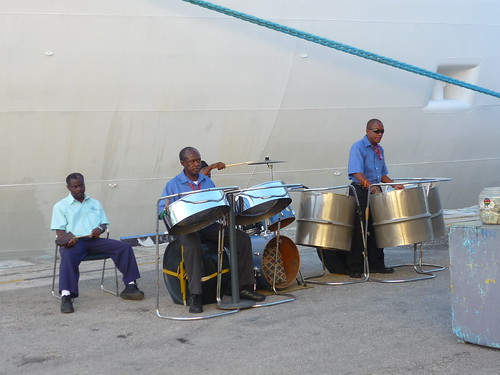 Steel pan band in Barbados