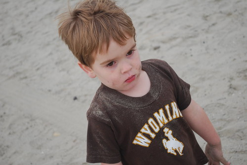 Taylor at the beach