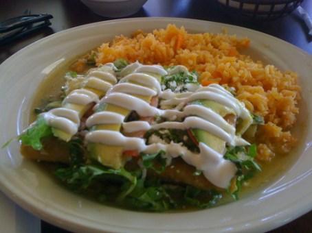 Chicken Enchiladas Verde, Las Delicias, Memphis, Tenn.