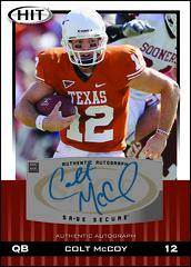 2010 SAGE Hit Autograph Colt McCoy