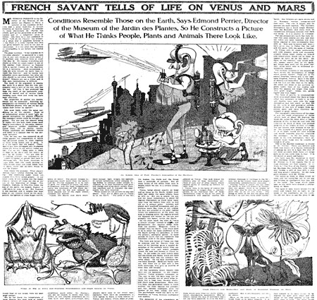 """FRENCH SAVANT TELLS OF LIFE ON VENUS AND MARS: Conditions Resemble Those on the Earth"""