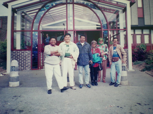With fellow-Malaysians at Marjons, Plymouth