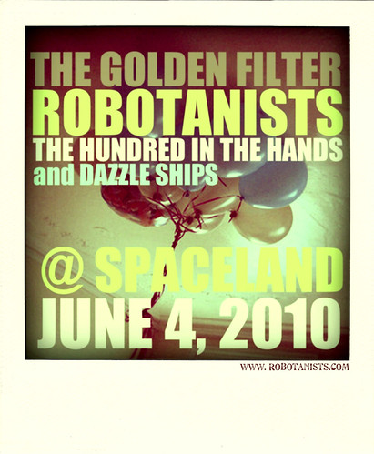 ROBOTANISTS + The Golden Filter / Poloroid Flyer