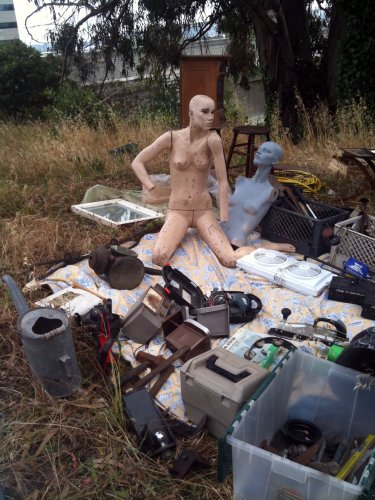 Junk with two mannequins