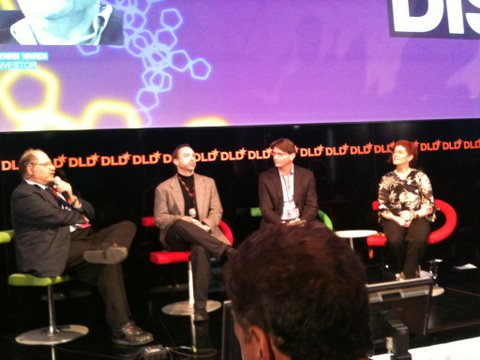 Vardi, Wales, Zennstrom and Baker at DLD in Munich