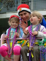 Kids and adults can enjoy the family-friendly parades during Mardi Gras