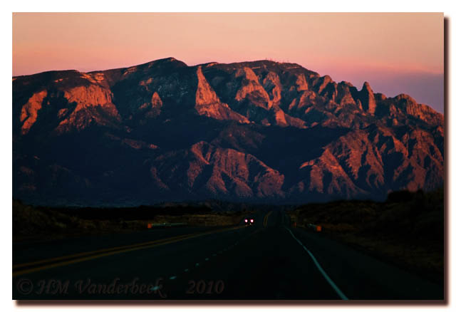 Sunset on Sandia Mountain