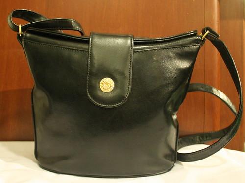 Vintage Handbag Black Bucket