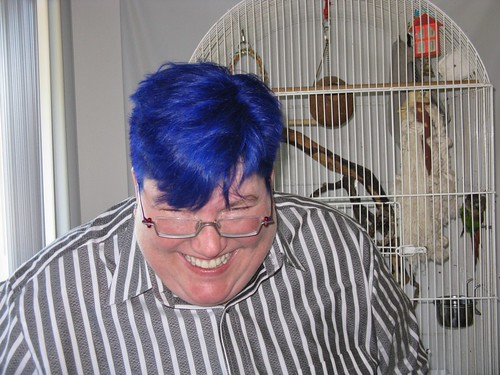 Was TOTALLY goofing off, and JB missed me making a face, but she got a good shot of my hair.