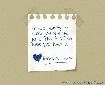 leaving cert houseparty