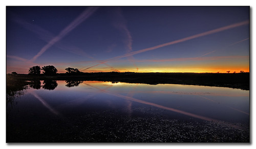 Nature and jet trails. by tassie303.