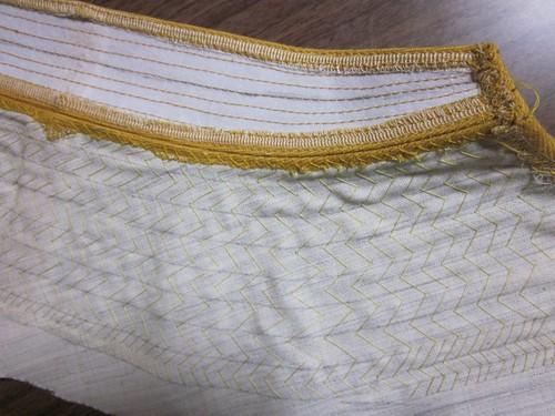 Lady Grey: Collar Padstitches