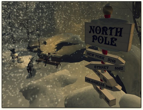 north pole at the land of dreams