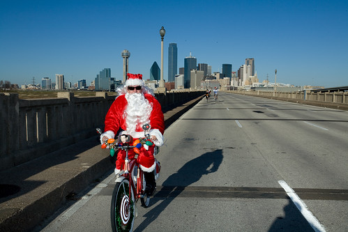 """Dallas Santa Ride 2009"" by d double u"