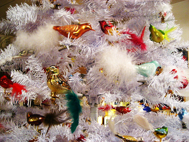 Glass Bird Christmas Tree