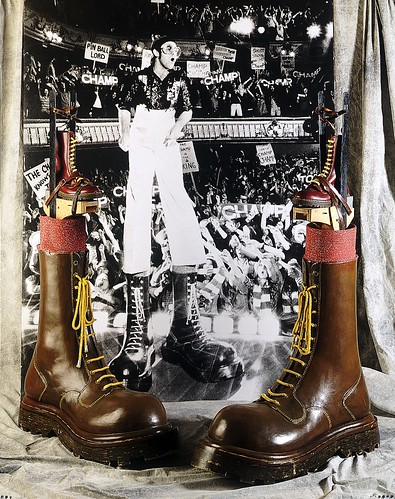 """Elton John's Boots from """"Tommy"""" by Northampton Museum"""