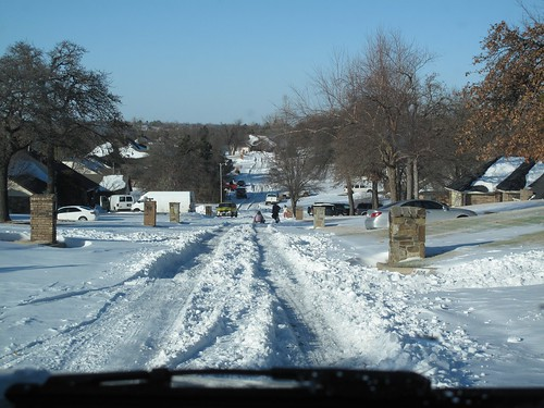 Snow in Mom & Dad's neighborhood. Oklahoma.