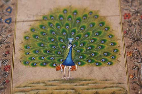 Handpainted peacock