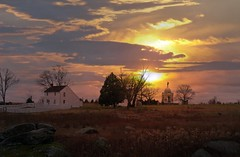 Sunset over the Hummelbaugh Farm, Gettysburg, ...