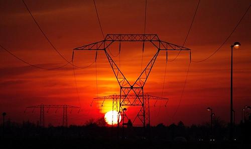 coucher de soleil industriel...