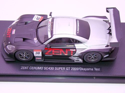 EBBRO ZENT CERUMO SC430 SUPER GT 2009 OKAYAMA TEST (8)