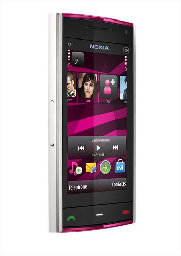NokiaX6_white_pink_left