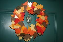 Leaf wreath from Martha Stewart kid