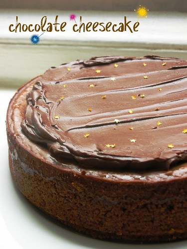 low and lush chocolate cheesecake