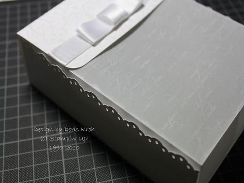 Transparent-Schachtel Seitenansicht