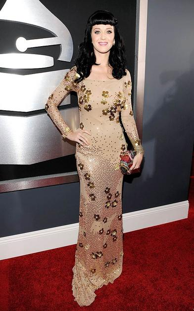 Singer Katy Perry arrives at the 52nd Annual GRAMMY Awards held