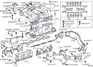 3vz intake manifold, hoses, and upper injection diagrams