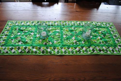 St.Patrick's table runner