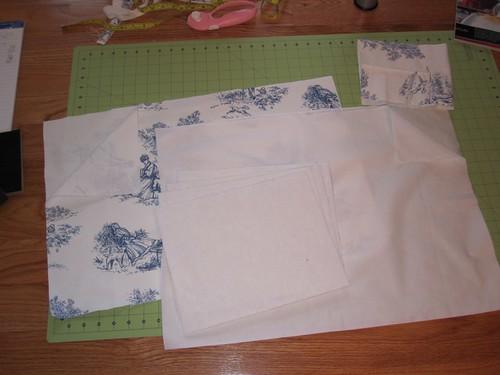 The cut fabric